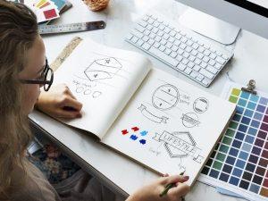 Säljstart anpassad efter ert projekts eller företags grafiska profil med tillhörande logotyper