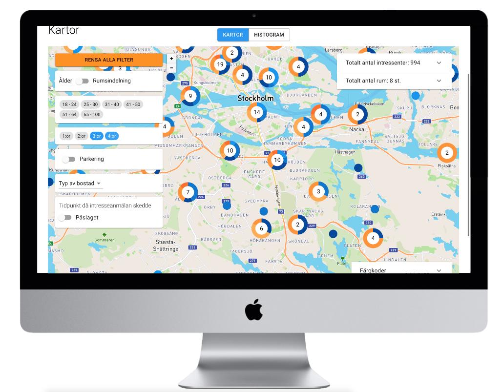 Marknadsanalys bostäder, flyttströmskarta